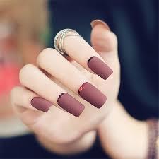 24pcs free glue pre design short fake nails french false nails