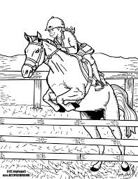 Coloriage cheval obstacle  1001 Animaux