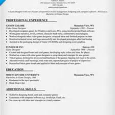 Resume Sample Librarian by Game Design Resume Resume For Your Job Application