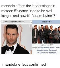 Adam Levine Meme - mandela effect the leader singer in maroon 5 s name used to be avril
