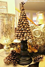 handmade pinecone christmas tree 12 days of diy trees pinecone