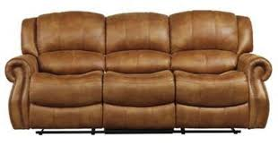 this plush saddle colored faux leather sofa reclining 100