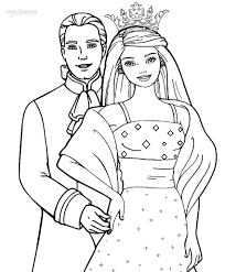 princess barbie coloring pages print coloring print pages