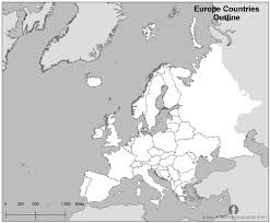a map of europe with countries free europe countries outline map black and white countries