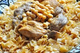 cuisine alg駻ienne traditionnelle constantinoise trida mkartfa ou nwasser sauce تريدة مقرطفة couscous et