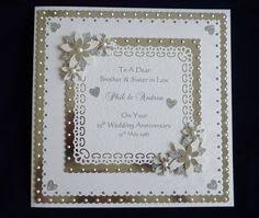 personalised handmade 60th wedding anniversary card