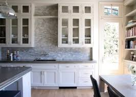 kitchen backsplashes with white cabinets modern style kitchen backsplash glass tile white cabinets inside