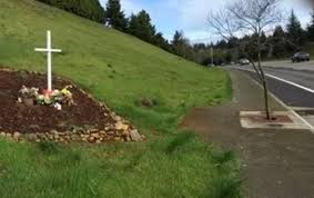 roadside cross maintained by salem or officials taken to