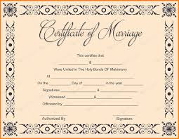 7 marriage certificate template microsoft word ledger page