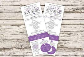 wedding programs krystals wedding invitations