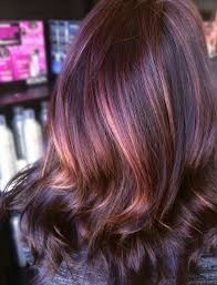 rose gold lowlights on dark hair dark brown w rose gold highlights colored dyed hair