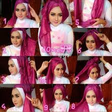 tutorial hijab pesta 2 kerudung 25 kreasi tutorial hijab pesta simple terbaru 2018