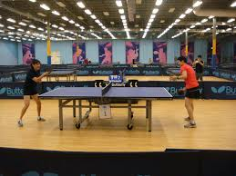 triangle table tennis hosts american tower corp for corporate