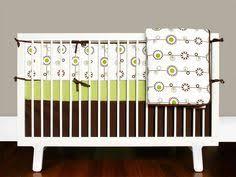 Dahlia Nursery Bedding Set Dahlia Crib Set 4p Cocalo Bedding Girl Blue Flowers Peach Trim