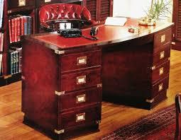 scrivanie stile antico zz scrivania stile marina in legno di mogano e pelle rosso antico
