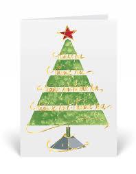 watercolor christmas tree holiday greeting cards 3402v custom