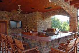 outdoor kitchen backsplash ideas modern outdoor kitchen ideas light brown tile backsplash beige