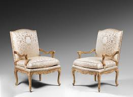 High Backed Armchairs Pair Of Gilded Wood High Back Armchairs Ref 63810