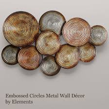 Copper Wall Decor by 3d Model Circles Wall Decor 2 Cgtrader