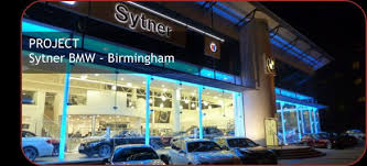 bmw birmingham electrical lighting and alarm installation at sytner bmw in
