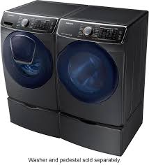 Samsung Blue Washer And Dryer Pedestal Samsung 7 5 Cu Ft 14 Cycle High Efficiency Electric Dryer With