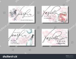 Fashion Photography Business Cards Makeup Artist Business Card Vector Template Stock Vector 390350176