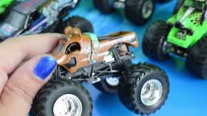 monster truck jam videos for kids monster trucks toys collection grave digger jam in mud videos for