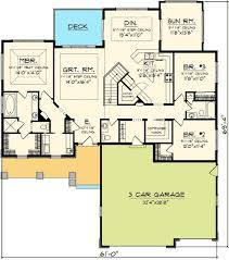 sunroom floor plans plan 89852ah craftsman ranch with sunroom craftsman ranch