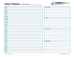 Calendar Template Daily 2017 daily planner template free printable templates