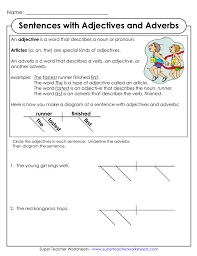 diagramming sentences with adjectives and adverbs