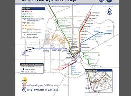 Dallas Dart Train Map by Bridging The Gap Creative Automata Spring 2014