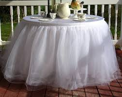 black tulle table skirt table skirt attachment option elastic how to attach your