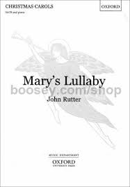 rutter s lullaby satb vocal score