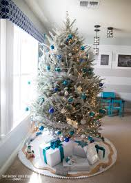 Crystal Garland For Christmas Tree A Turquoise Blue And Silver Christmas The Homes I Have Made
