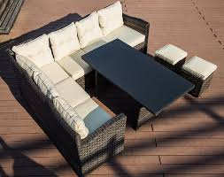 vanhoy 5 piece rattan sectional set with cushions u0026 reviews