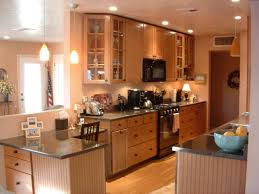 Galley Kitchen With Island Layout Small L Shaped Kitchen With Peninsula Outofhome