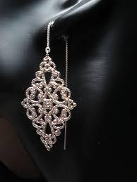 Chandelier Earrings Etsy 85 Best Filligree Wire Images On Pinterest Silver Filigree