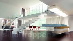 Stairs With Open Risers by Helical Staircase Glass Steps Concrete Frame Without Risers