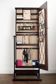 brown jewelry armoire bedroom best jewelry mirror armoire for your jewelry organizer
