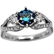 blue wedding rings blue diamond wedding rings best 20 blue diamond rings ideas on
