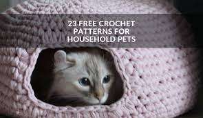 Cat Bed Pattern 23 Free Crochet Patterns For Household Pets Winding The Skein