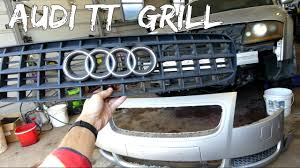 2001 audi tt front bumper cover audi tt front grill bumper grille removal replacement