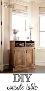 Diy Console Table Plans by Best 25 Shabby Chic Console Table Ideas On Pinterest Pottery