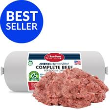 complete raw ground beef for dogs and cats