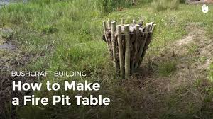 How To Make Firepit by How To Make A Fire Pit Bushcraft Youtube