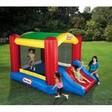 little tikes clubhouse swing set jr bounce u0027n slide bouncer