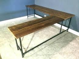 reclaimed wood l shaped desk reclaimed wood computer desk lindas club