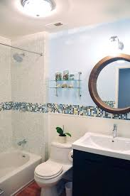 mosaic tile bathroom ideas modern bath design in kaleidoscope colorways winter blend glass