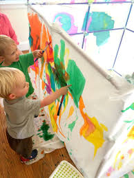 giant fort painting for kids homegrown friends