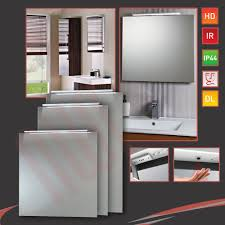 Led Bathroom Mirrors With Demister by Led Down Lighter Bathroom Mirrors Infrared Sensor Heat Demister